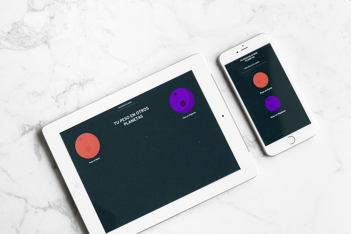 Tutorial JavaScript, saber tu peso en otro planeta