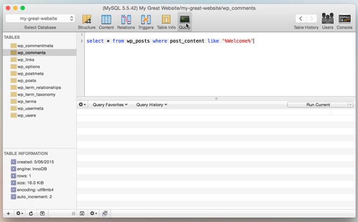 Gestor MySQL Mac OS X
